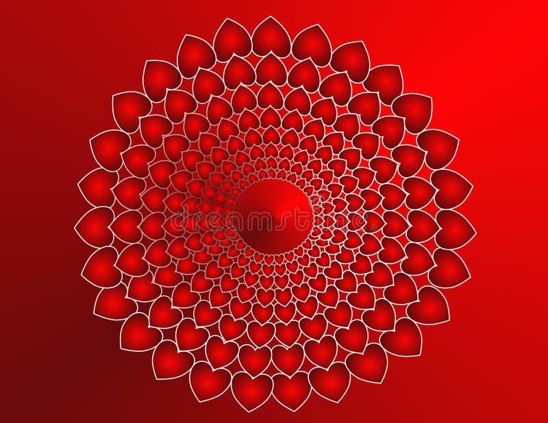 Mandala de coeur illustration stock illustration du vacances 27792881 - Mandala de coeur ...