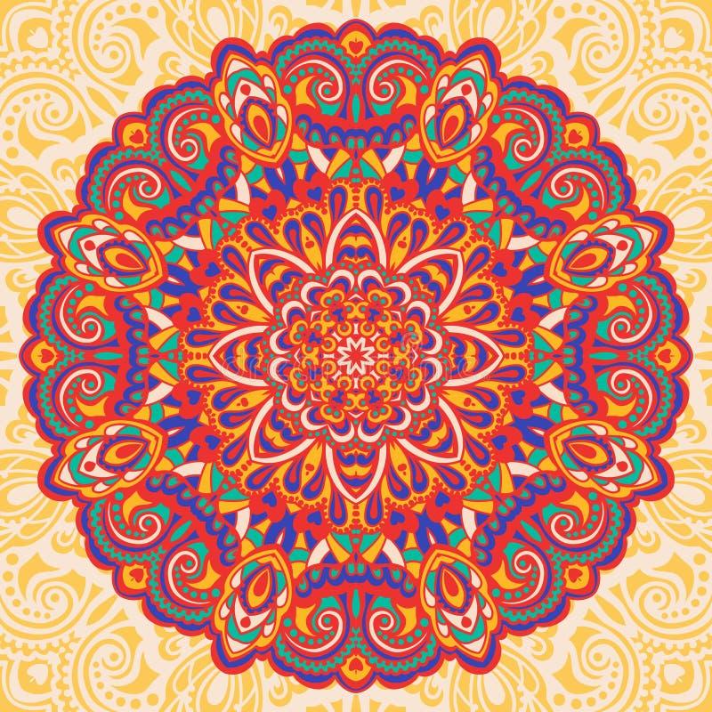 Mandala de fleur. Élément abstrait pour la conception illustration stock