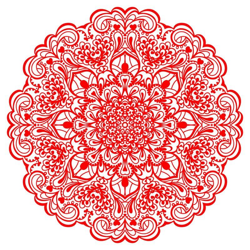 Mandala de fleur. Élément abstrait pour la conception illustration de vecteur