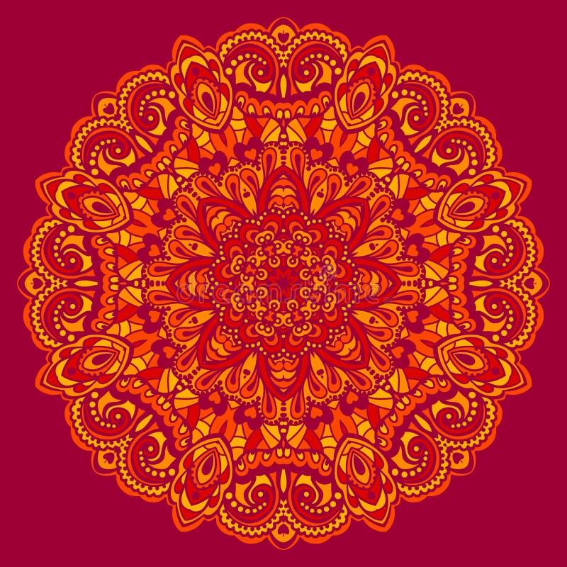 Mandala de fleur. Élément abstrait pour la conception illustration libre de droits