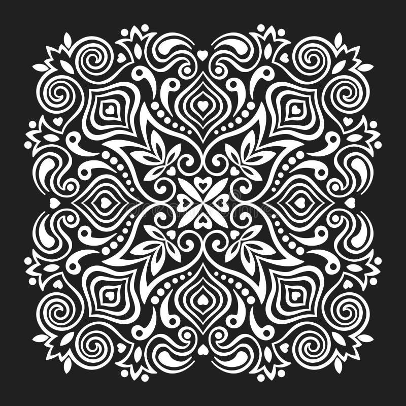 Mandala de fleur Élément abstrait pour la conception illustration stock