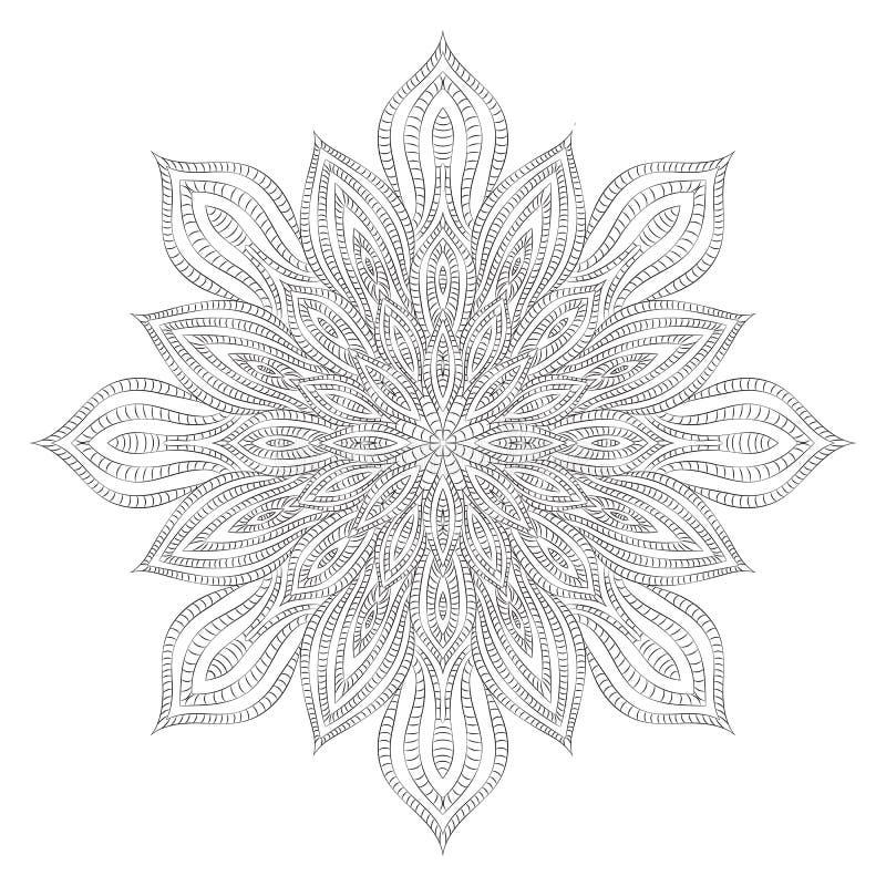 Mandala de fleur images stock