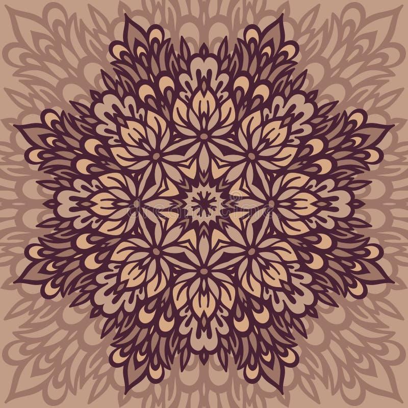 Mandala de fleur abrégez le fond illustration stock