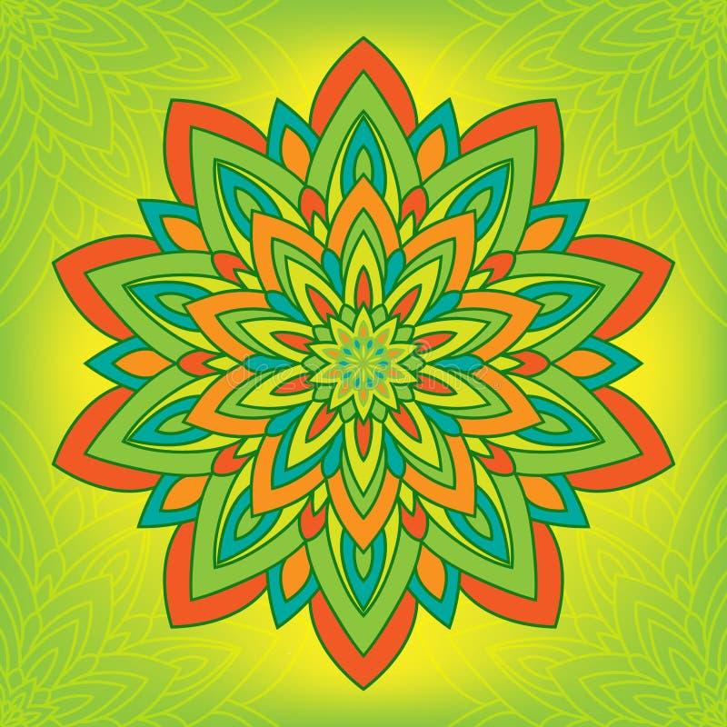 Mandala de fleur de cercle illustration stock
