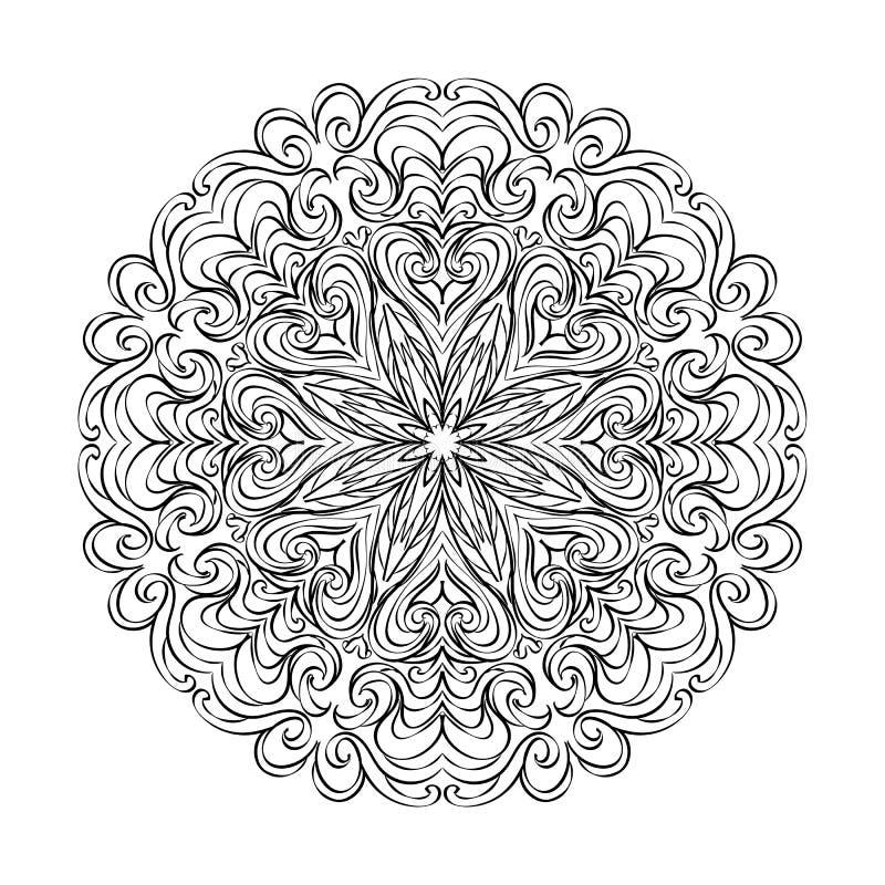 Mandala de fleur Ornement décoratif de cru Modèle oriental a photographie stock