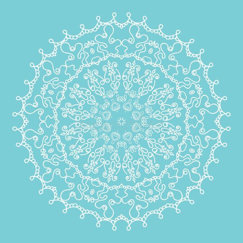 Mandala de flocon de neige illustration de vecteur