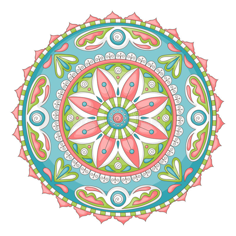 Mandala de griffonnage illustration stock