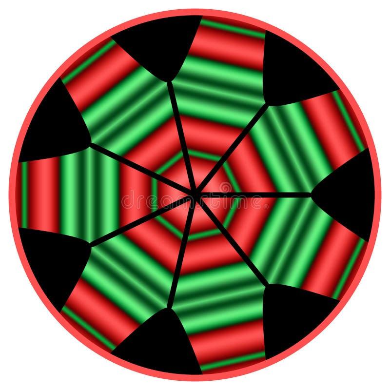 Mandala de Kwanzaa illustration de vecteur
