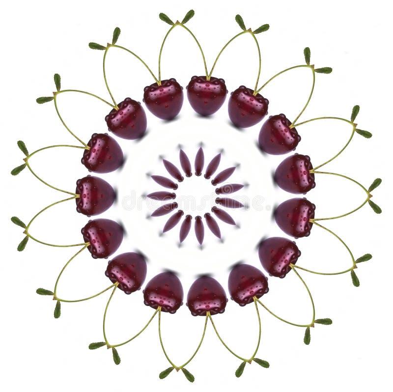 Mandala de la cereza ilustración del vector