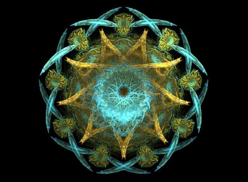 Mandala de la estrella del océano stock de ilustración