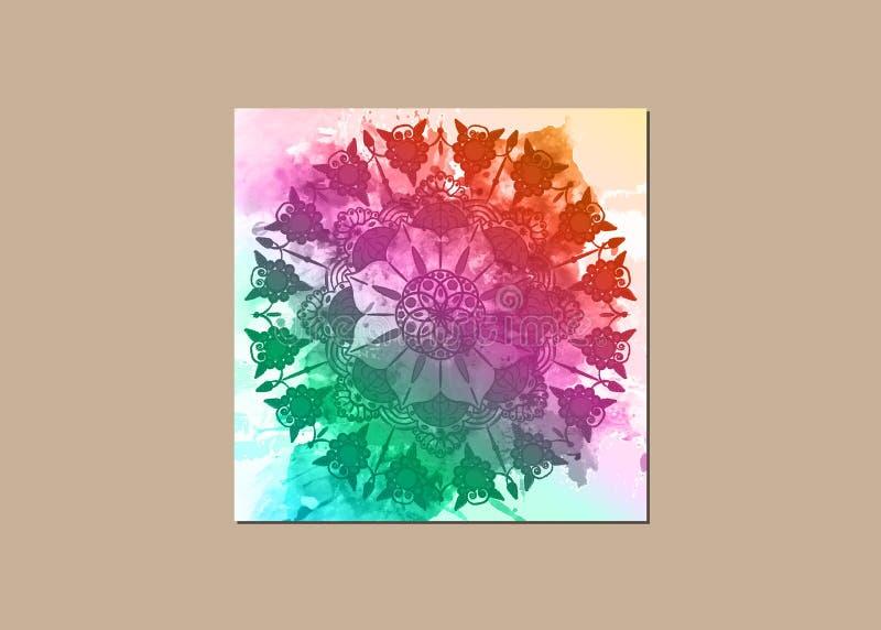 Mandala de la flor Modelo oriental de los elementos decorativos del vintage, ejemplo Islam, árabe, indio, marroquí, España, turca libre illustration