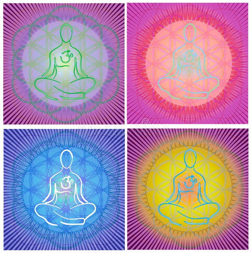 Mandala de la meditación foto de archivo libre de regalías