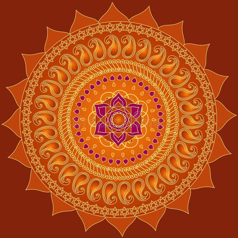 Mandala de lotus illustration libre de droits