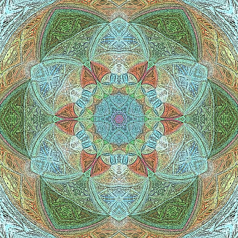Mandala de Lotus avec Paisley illustration libre de droits