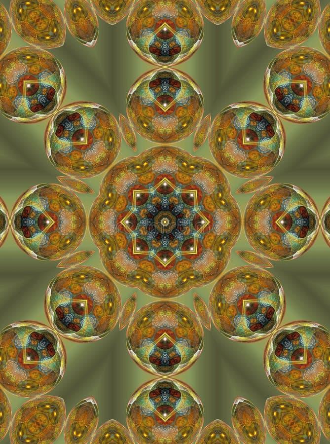 Mandala de Noël illustration libre de droits