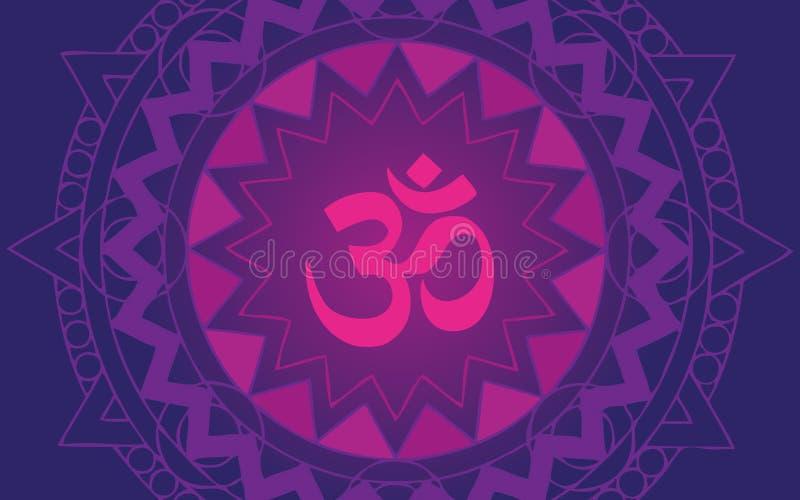 Mandala de OM stock de ilustración