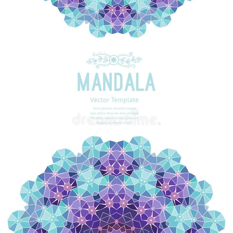 Mandala de pourpre de vecteur Décor pour votre conception, ornement de dentelle Modèle rond, style oriental illustration de vecteur