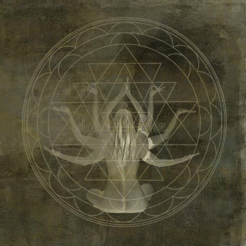 Mandala de Shakti de yoga illustration stock