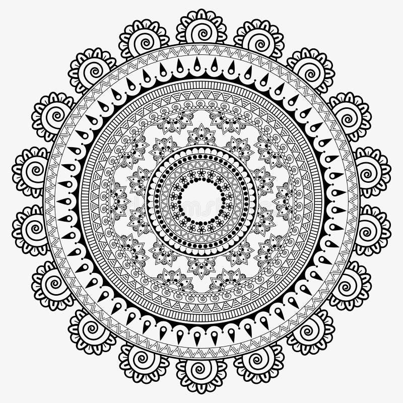 Mandala de tournesols, fond abstrait de texture illustration de vecteur