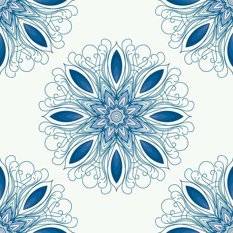 Mandala de vecteur Frontière ornementale florale de vecteur abstrait image stock