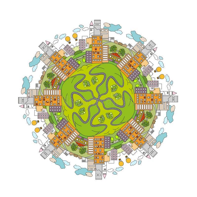 Download Mandala 02 A de ville illustration de vecteur. Illustration du architecture - 76085081