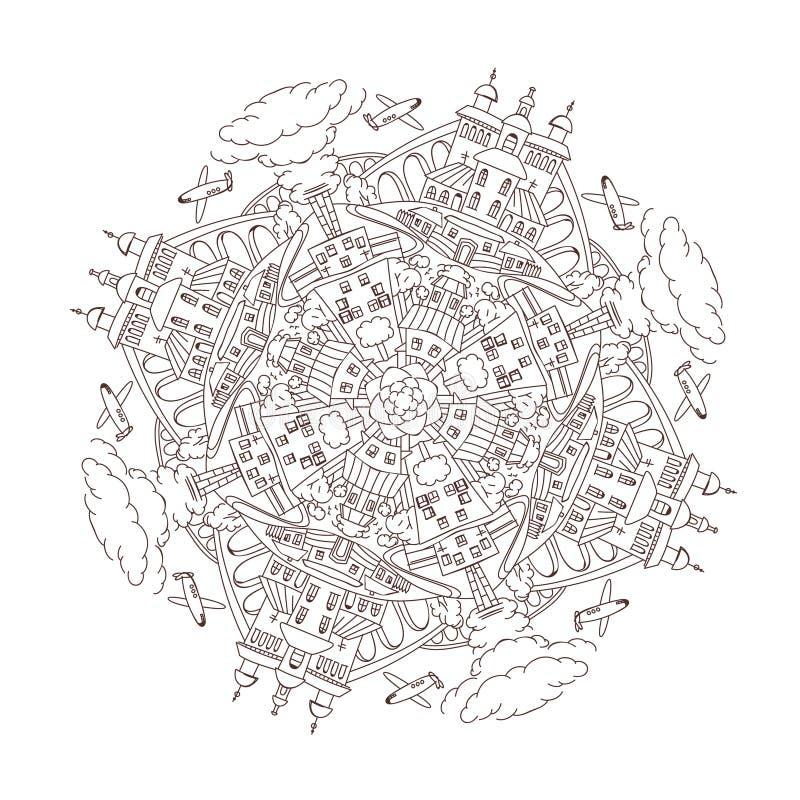 Download Mandala De Ville De Vecteur Illustration de Vecteur - Illustration du transport, impression: 76085085