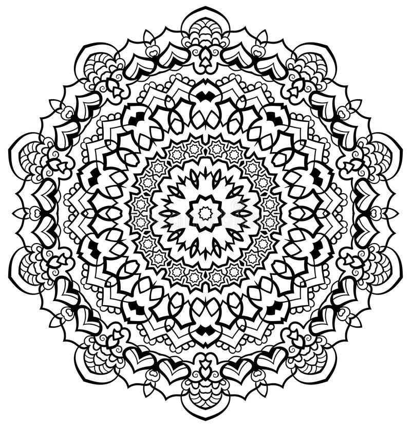 Mandala decorativa imagens de stock