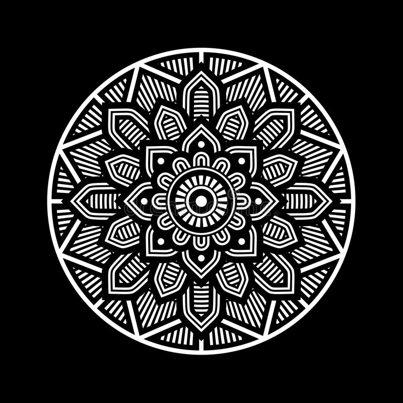 Mandala Decorative Circle Illustration stock de ilustración