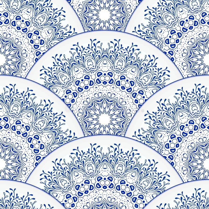 mandala dekorativ elementtappning bakgrund tecknad hand royaltyfri illustrationer