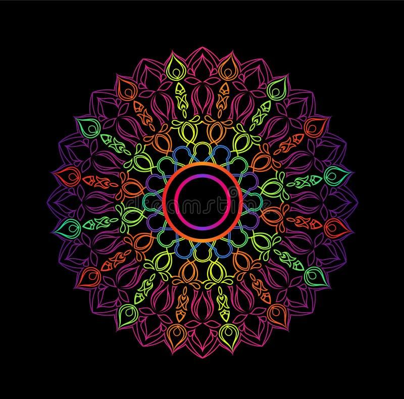 mandala Dekorative runde Verzierung Anti-Drucktherapiemuster vektor abbildung