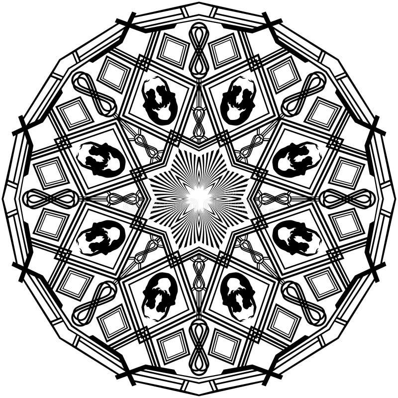 Mandala del bauprés de la sirena stock de ilustración