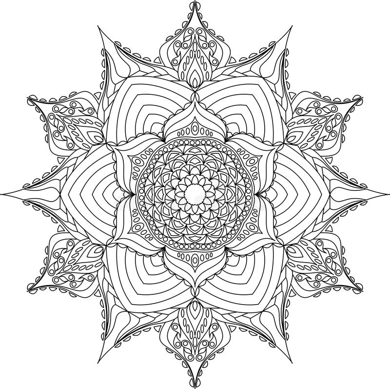 Mandala del esquema para el libro de colorear libre illustration