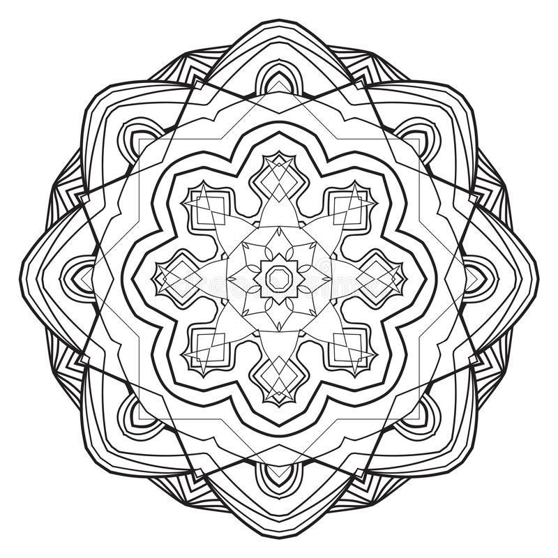 Mandala del fiore Elementi decorativi dell'annata immagini stock