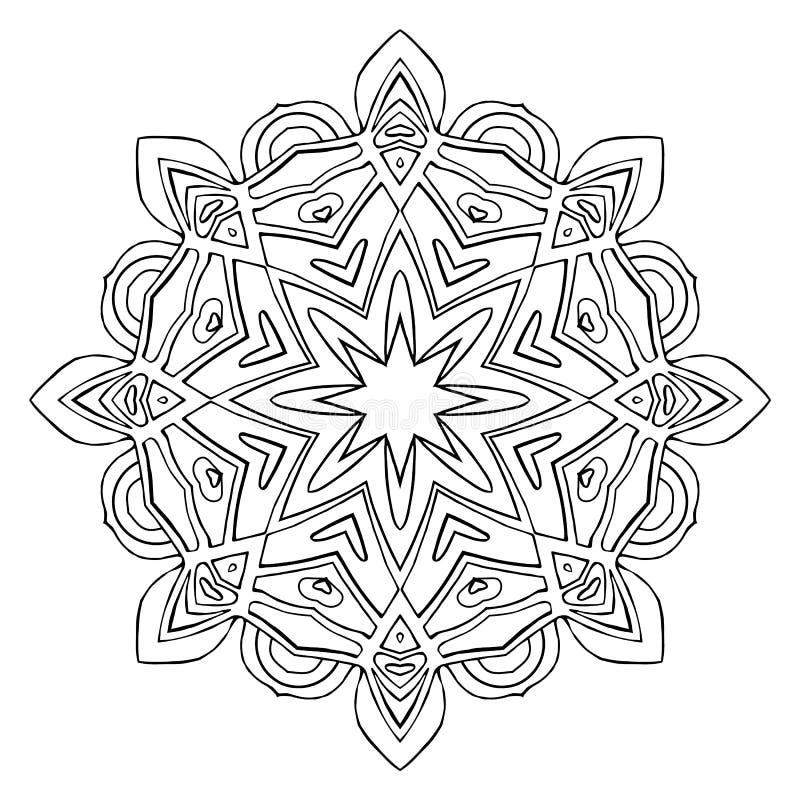 Mandala del fiore Elementi decorativi dell'annata fotografie stock