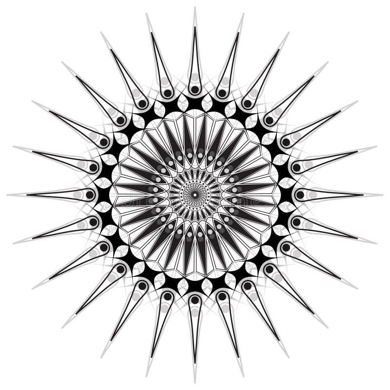 Mandala del fiore Elementi decorativi dell'annata Modello orientale, illustrazione Islam, arabo, indiano, marocchino, spagna, tur illustrazione vettoriale