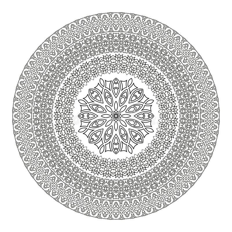 Mandala del fiore per il libro da colorare modello etnico - Modello di base del fiore ...
