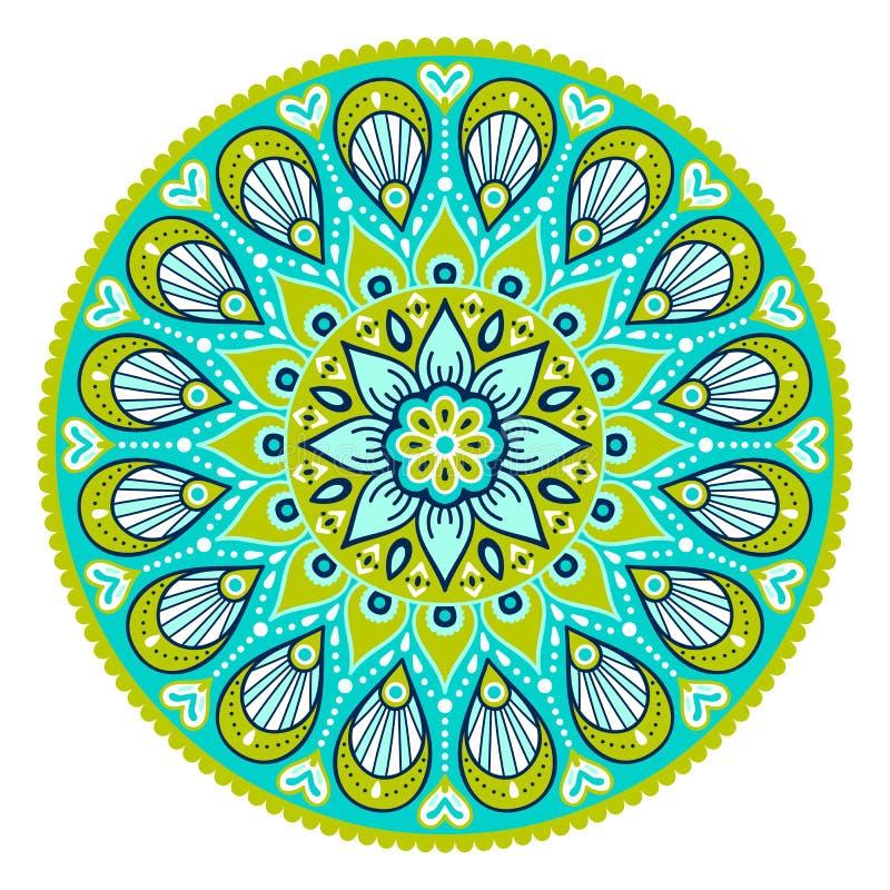 Mandala del indio del vector stock de ilustración
