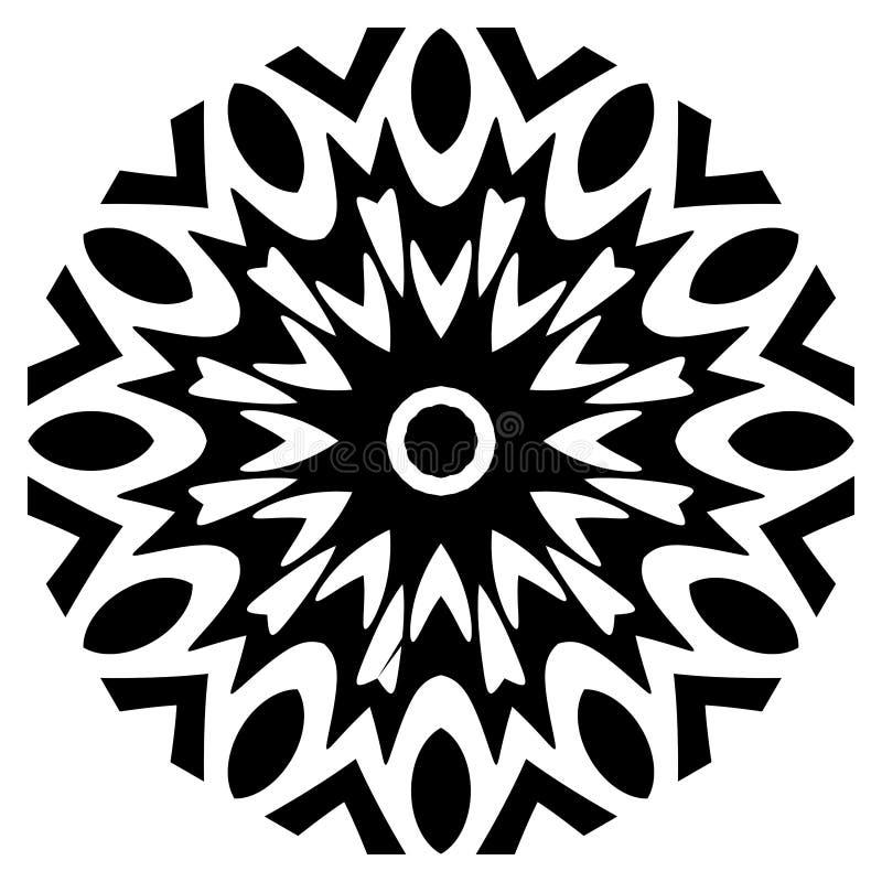 Mandala del indio del vector Adorno, invitación stock de ilustración