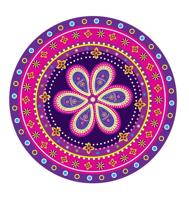 Mandala del modello di fiore illustrazione vettoriale - Modello di base del fiore ...