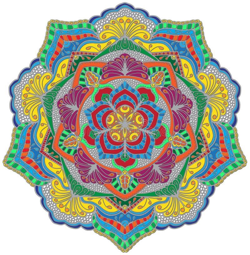 Mandala del mosaico fotografie stock