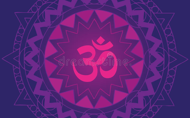 Mandala del OM illustrazione di stock