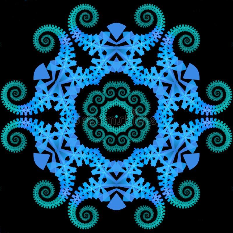 Mandala del Reptilian illustrazione vettoriale