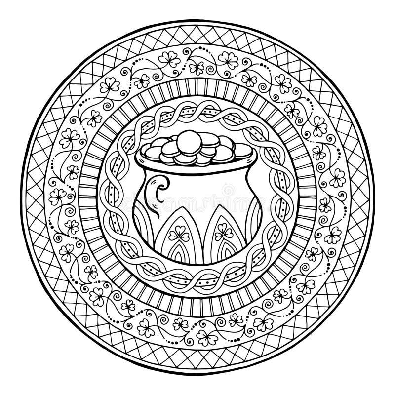 Vistoso Mandala Irlandés Para Colorear Elaboración - Ideas Para ...