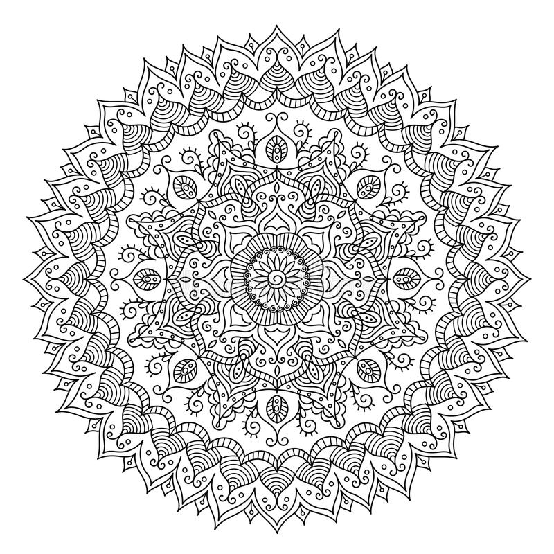 Mandala del vintage Modelo tribal del ornamento redondo del vector libre illustration