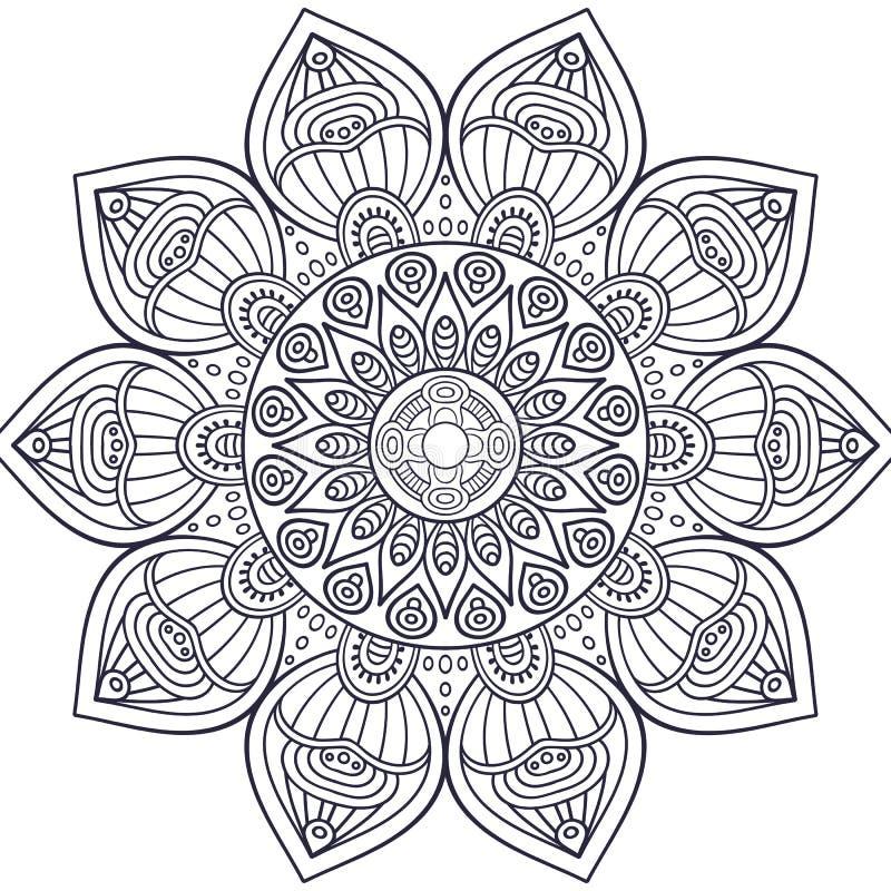 Mandala dell'indiano di vettore illustrazione di stock