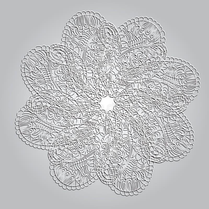 Mandala dell'ornamento del cerchio royalty illustrazione gratis