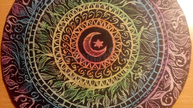 Mandala della luna fotografia stock