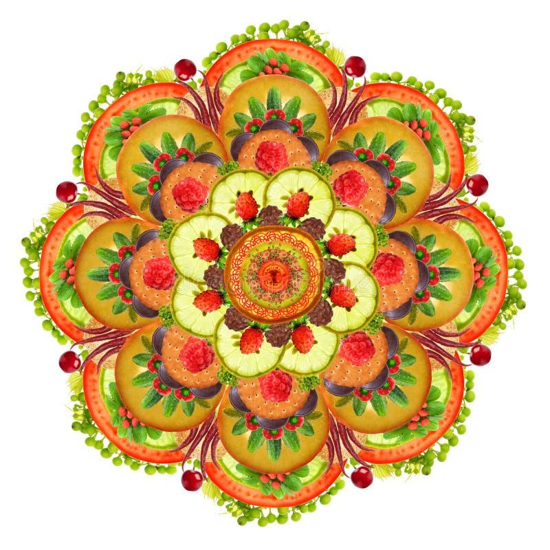 Mandala della pizza immagine stock