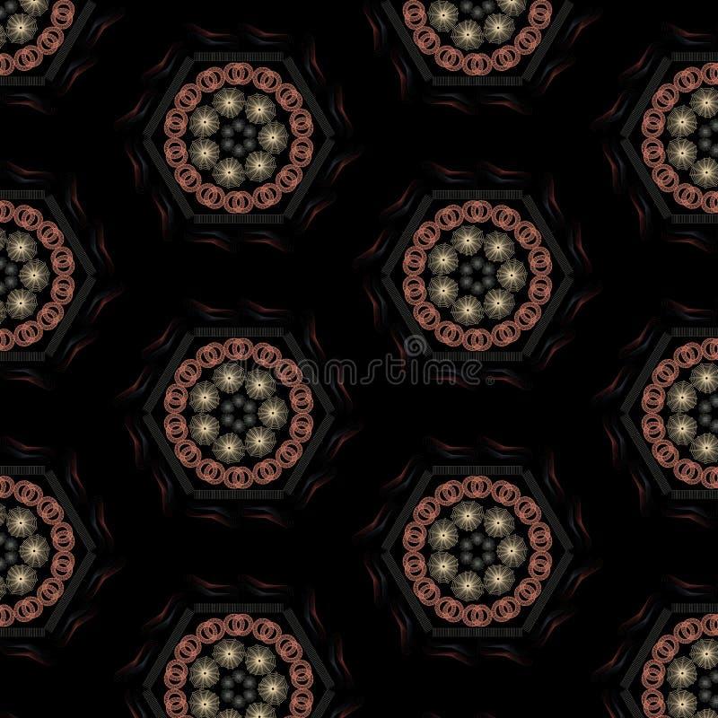 mandala deseniuje bezszwowego ilustracji
