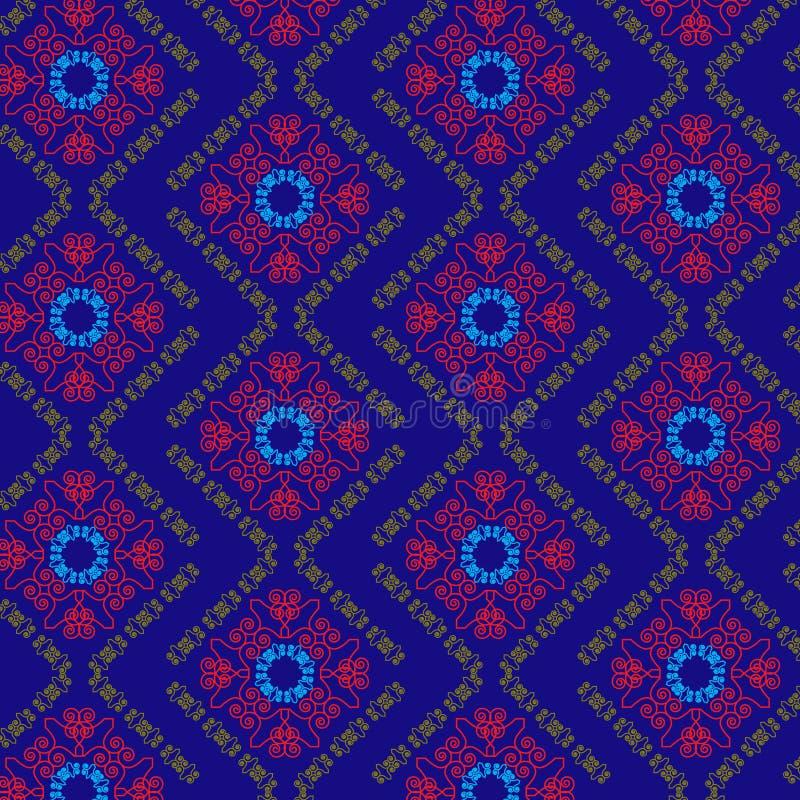 mandala deseniuje bezszwowego royalty ilustracja